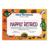 Happily Retired Certificate by Beistle - Retirement Theme Decorations