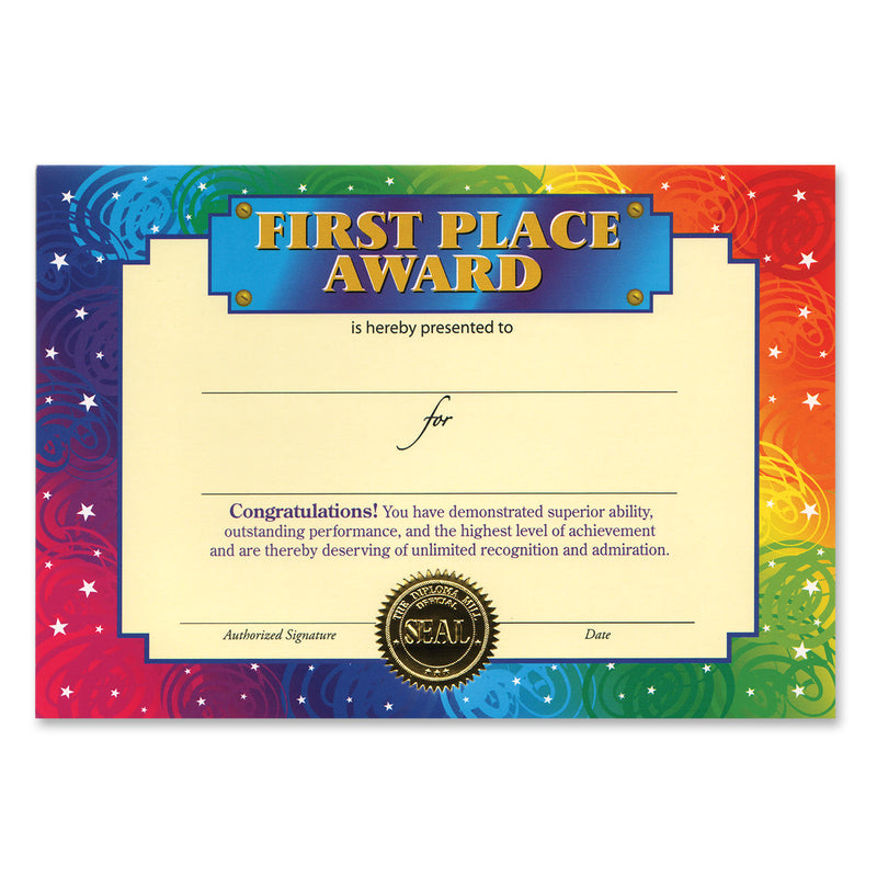 First Place Award Certificate by Beistle - School Awards and Supplies Decorations
