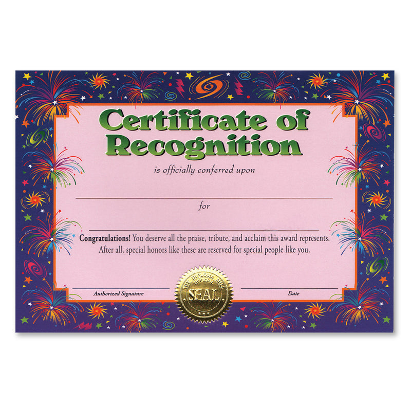 Certificate Of Recognition by Beistle - School Awards and Supplies Decorations