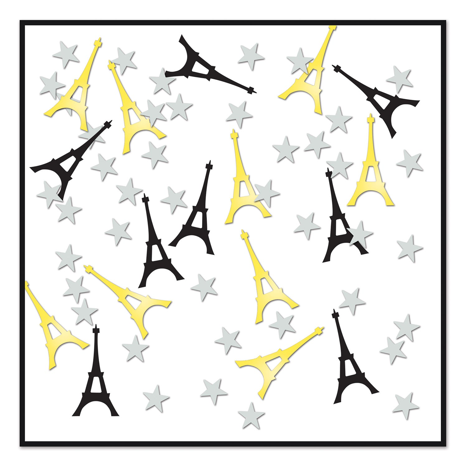 Eiffel Tower Confetti (.5 Oz/Pkg) by Beistle - French Theme Decorations