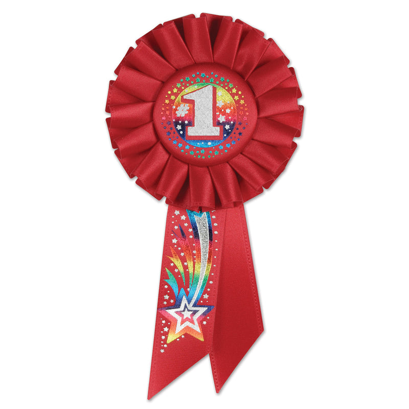 #1 Rosette by Beistle - School Awards and Supplies Decorations