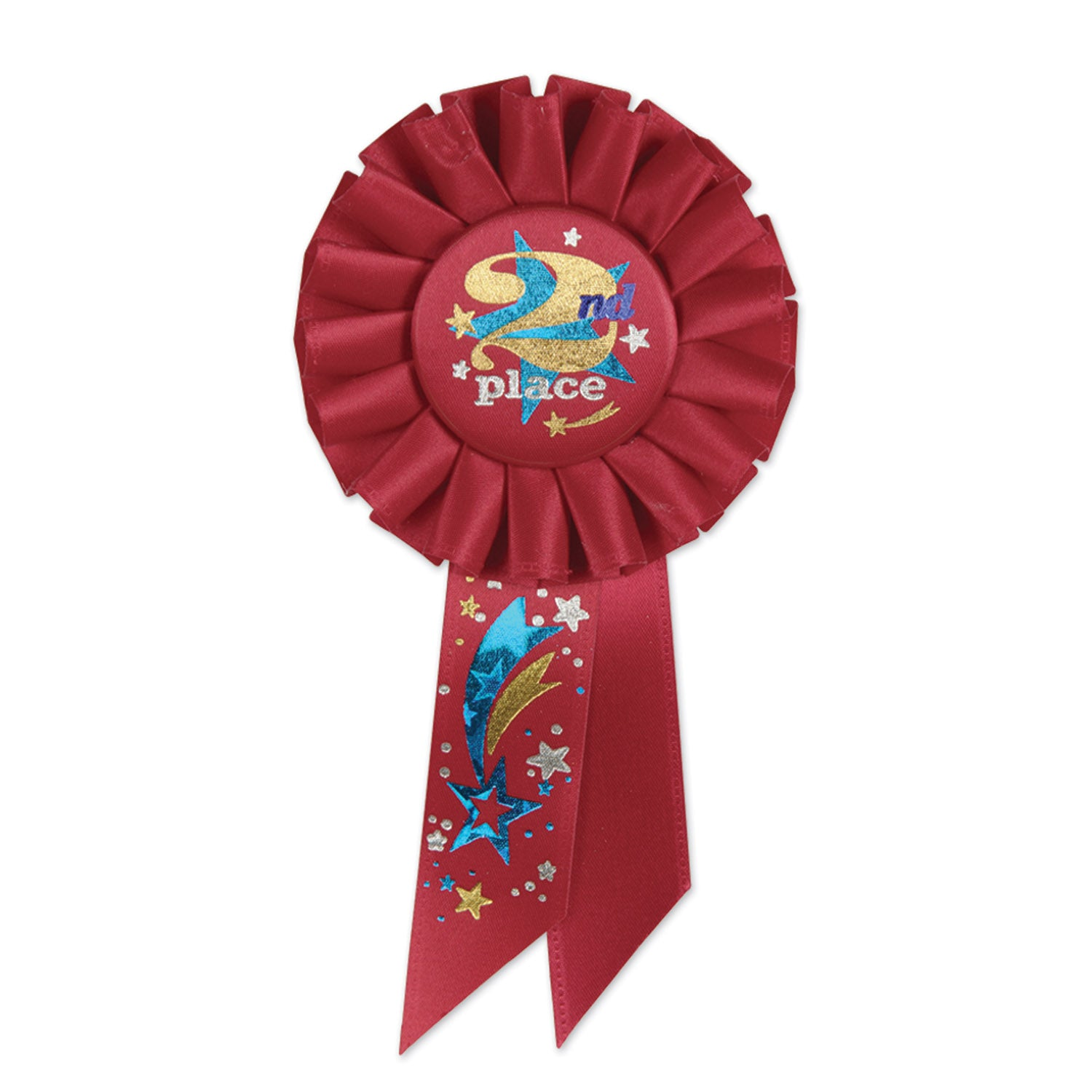 2nd Place Rosette by Beistle - Sports Theme Decorations