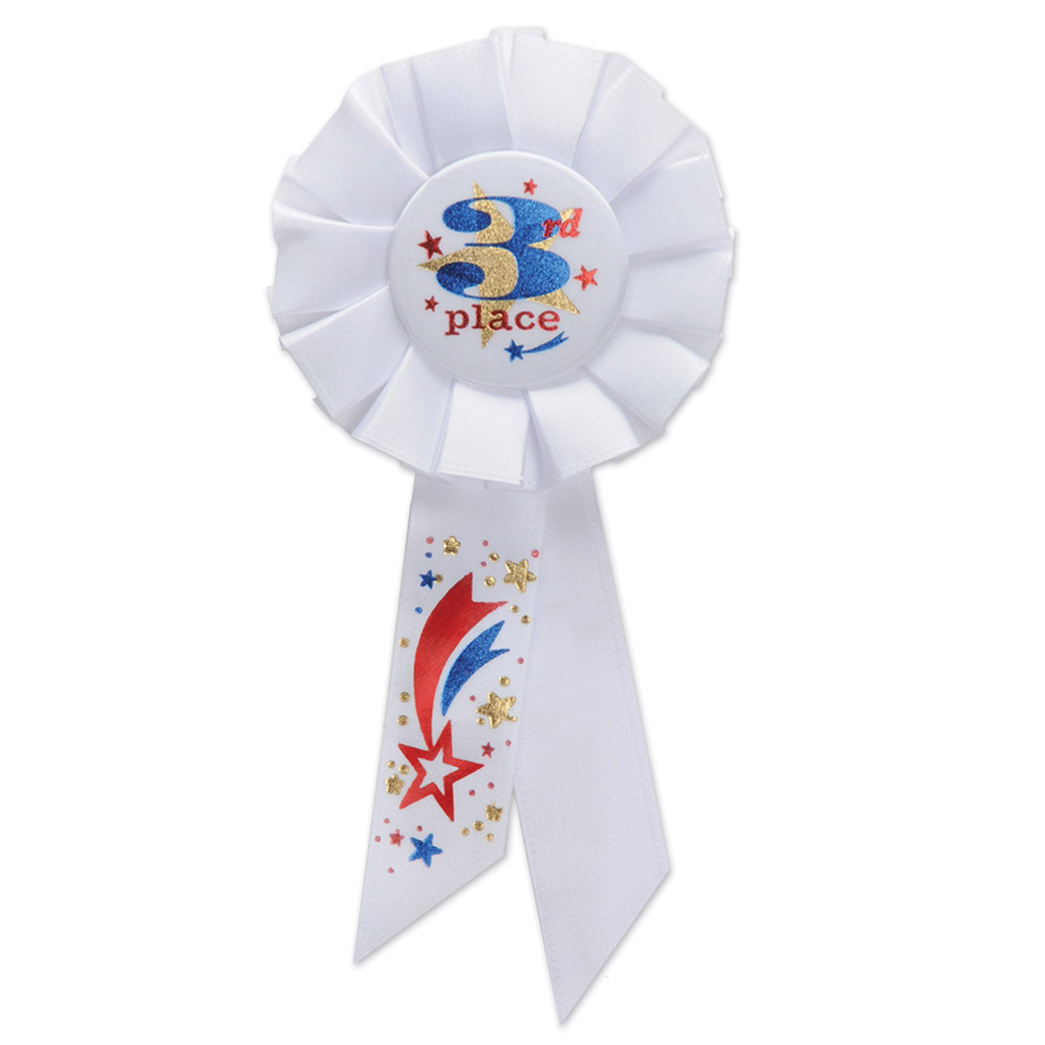 3rd Place Rosette by Beistle - Sports Theme Decorations