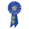 My 6th Birthday Rosette, blue by Beistle - 6th Birthday Party Decorations