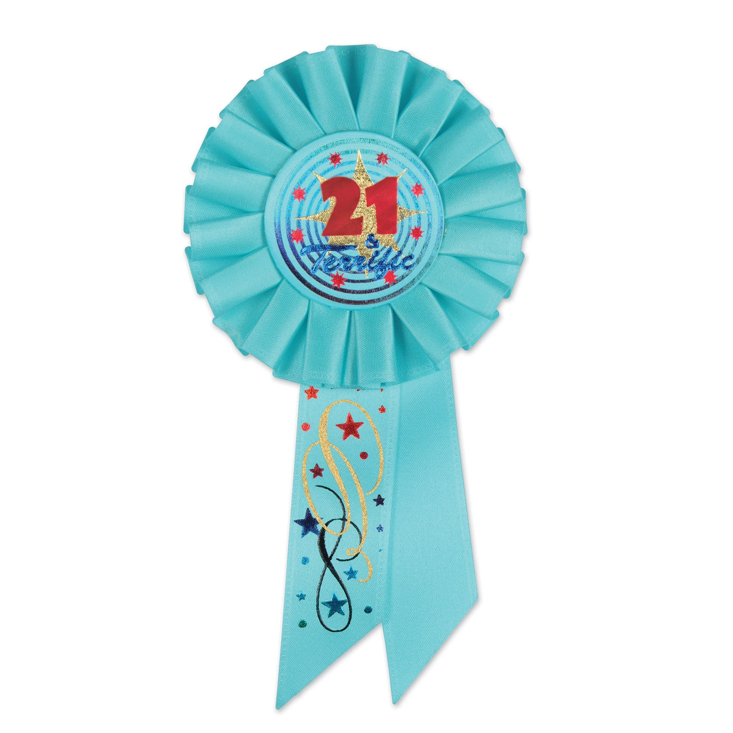 21 & Terrific Rosette by Beistle - 21st Birthday Theme Decorations