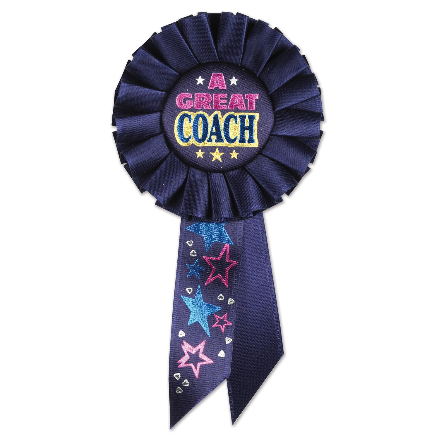 A Great Coach Rosette by Beistle - Sports Theme Decorations