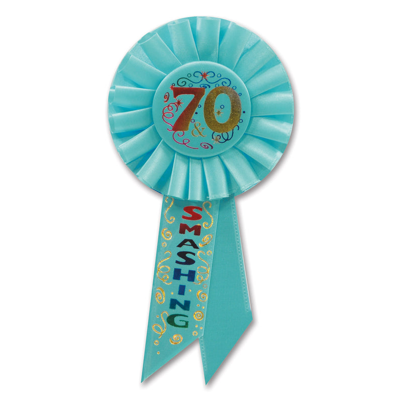 70 & Smashing Rosette by Beistle - 70th Birthday Party Decorations