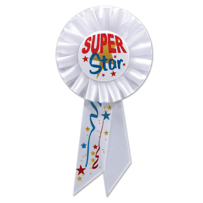 Super Star Rosette by Beistle - Sports Theme Decorations