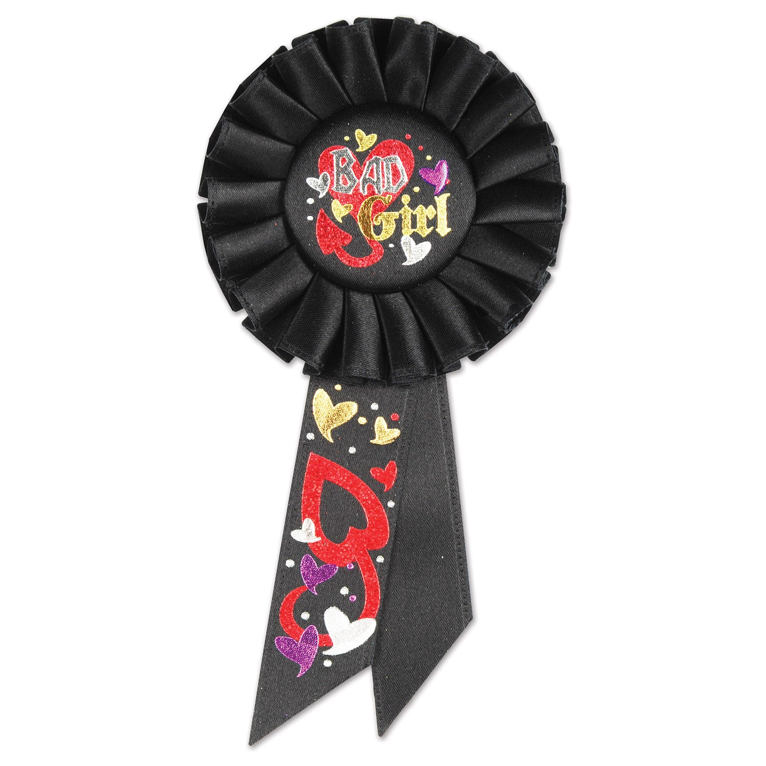 Bad Girl Rosette by Beistle - Bachelorette Theme Decorations