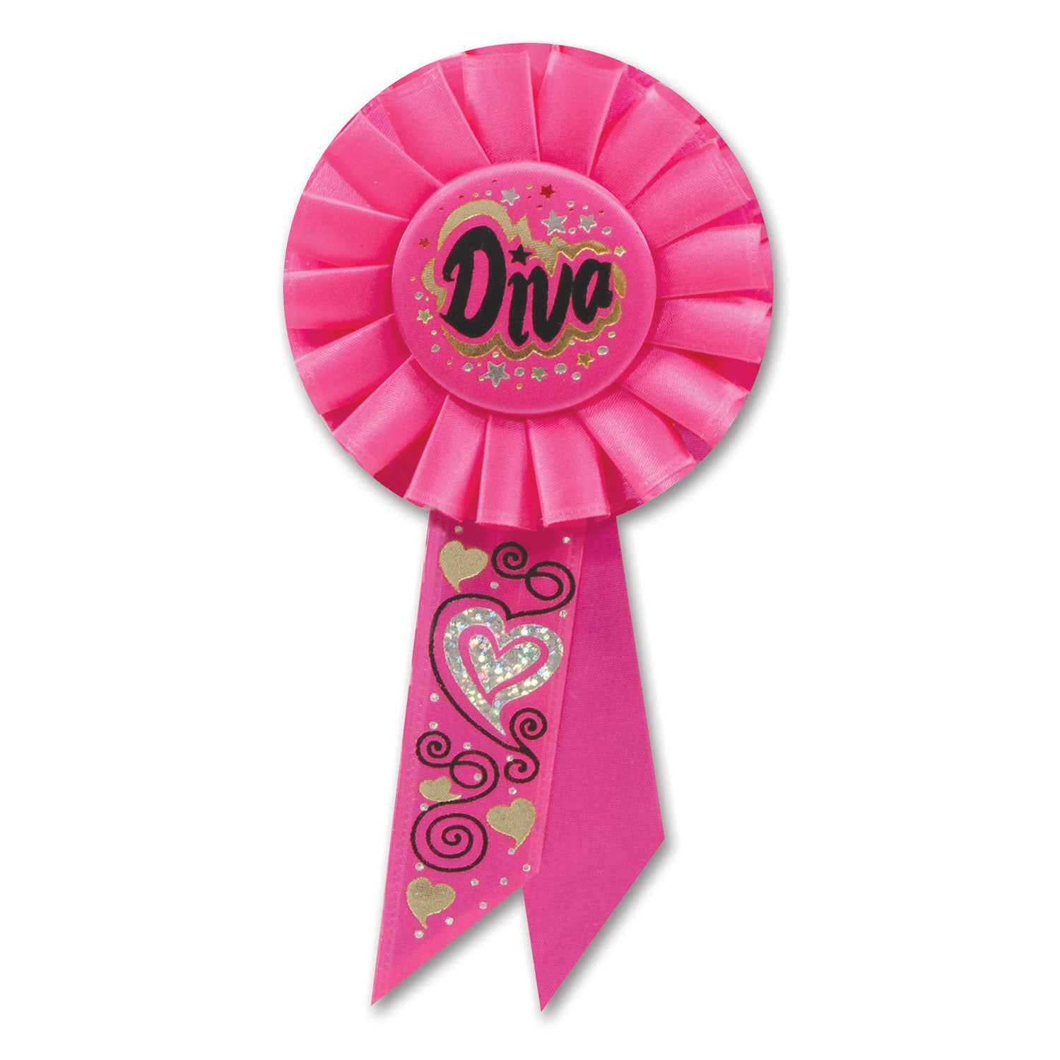 Diva Rosette by Beistle - Diva/Drama Queen Theme Decorations