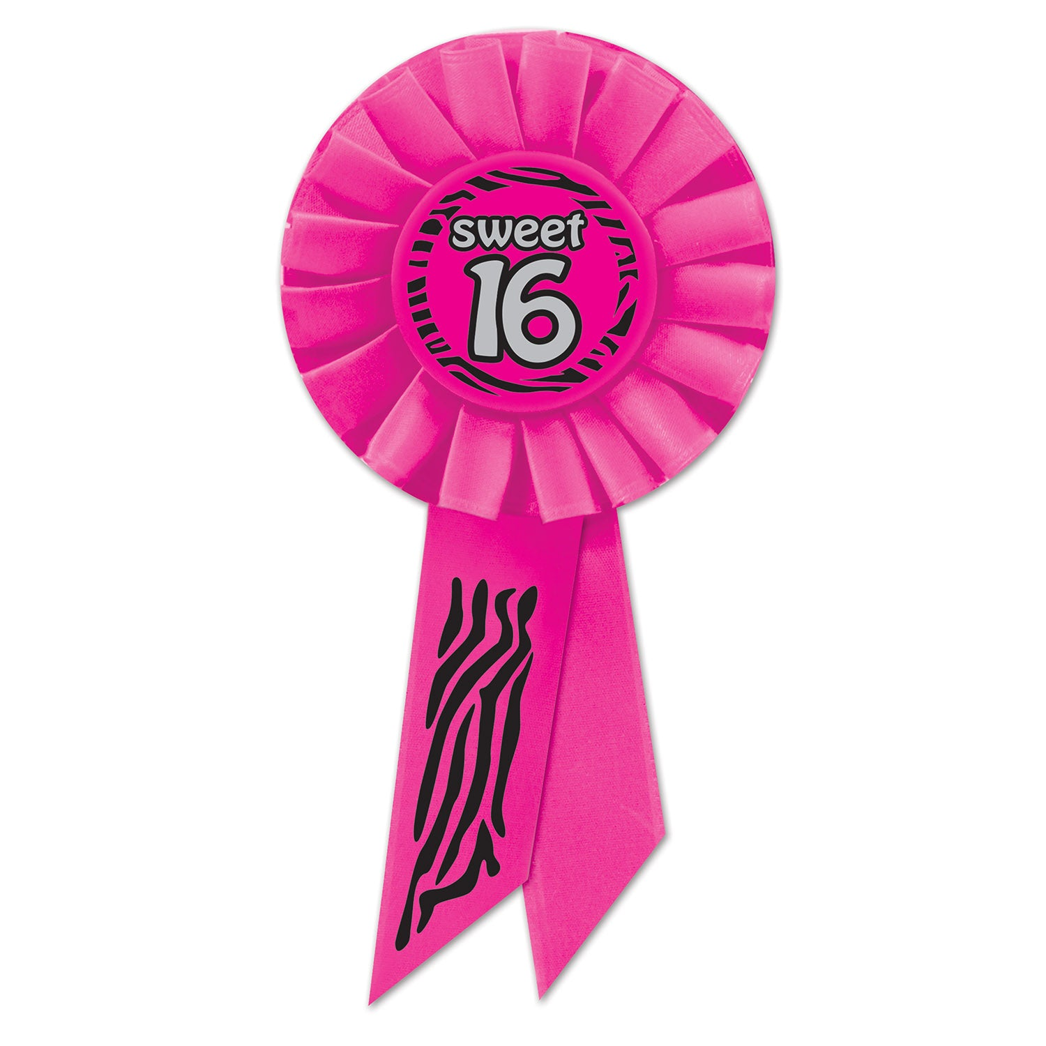Sweet 16 Rosette by Beistle - Sweet 16 Birthday Decorations