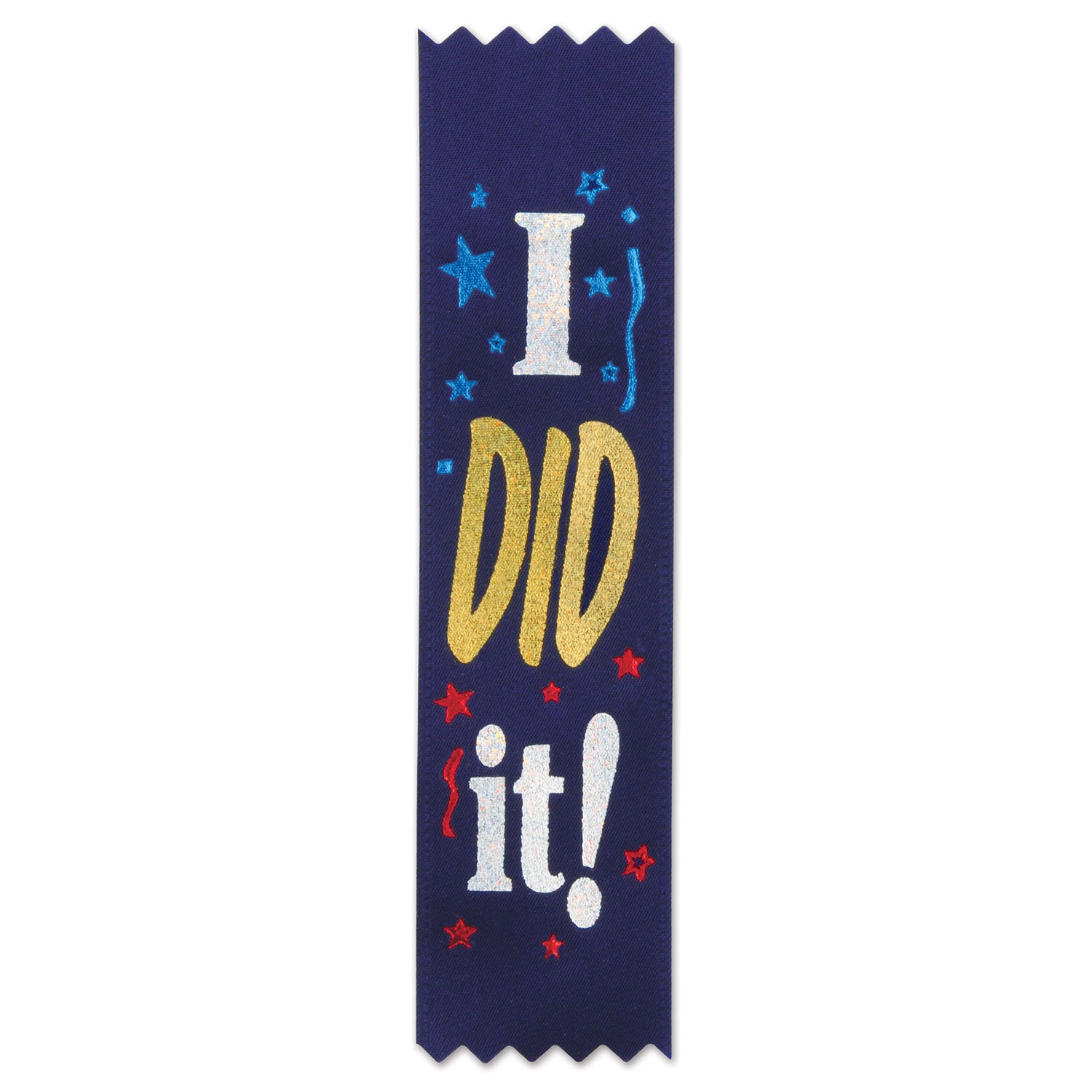 I Did It! Value Pack Ribbons (10/Pkg) by Beistle - School Awards and Supplies Decorations