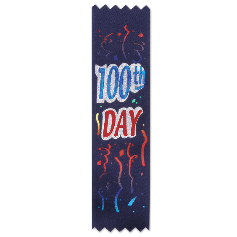 100th Day Value Pack Ribbons (10/Pkg) by Beistle - School Awards and Supplies Decorations