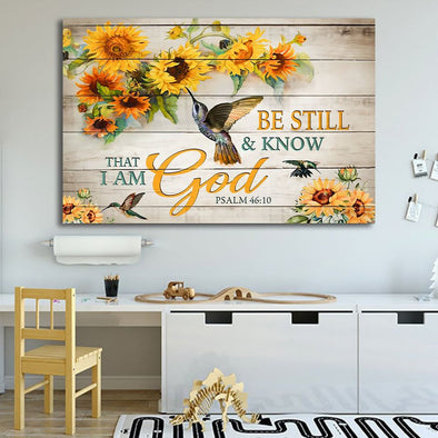 God Canvas - Be Still and Know That I Am God Canvas