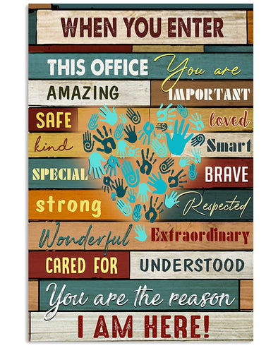 Nurse Canvas - When You Enter This Office You Are Amazing Kind Safe Special Strong Extraordinary Understood Canvas - LOP Store