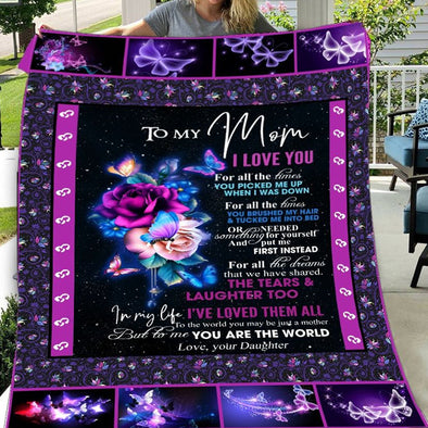 Mom Blanket - Customized Blanket To My Mom I'm Always With You You Are The World To Me Fleece Blanket - LOP Store