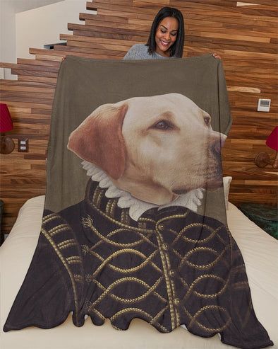 Funny Blanket - Funny Dogs A Count Customized Photo Fleece Blanket - LOP Store