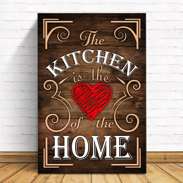 Family Canvas - The Kitchen Is The Heart Of The Home Canvas - LOP Store