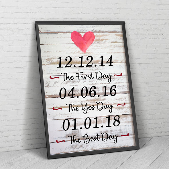 Love Canvas - The First Day The Best Day Customized Canvas - LOP Store