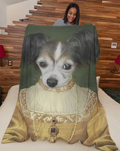 Funny Blanket - Funny Pets A Crazy Dog Customized Photo Fleece Blanket - LOP Store