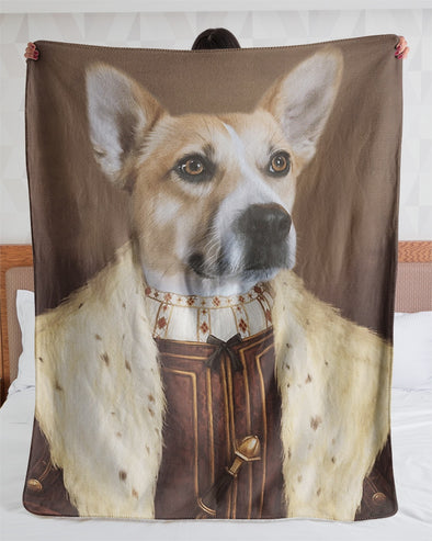 Funny Blanket - Funny Dogs A Thoughtful Face Customized Photo Fleece Blanket - LOP Store