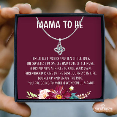 Mother Message Necklace Mama To Be A Wonderful Mama Ten Little Fingers and Ten Little Toes The Sweetest of Smiles and Cute Little Nose - Sterling Silver Necklace - LOP Store