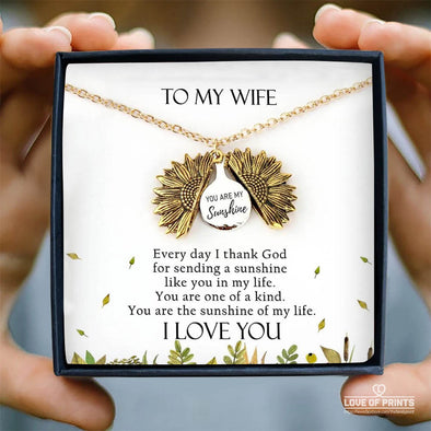Wife Message Necklace To My Wife Every Day I Thank God For Sending A Sunshine Like You In My Life I Love You - Sterling Silver Necklace - LOP Store