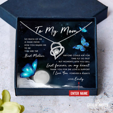 Mother Personalized Message Necklace So Much Of Me Is Made From How You Raised Me To Be You Are The Best Mother - Sterling Silver Necklace - LOP Store