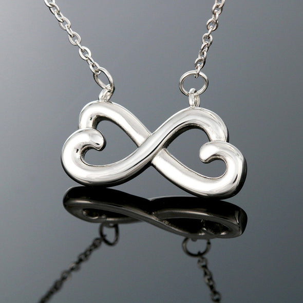 Wife Message Necklace To My Gorgeous Wife I Married You Because I Can't Live Without You - Message Infinity Heart Necklace - LOP Store