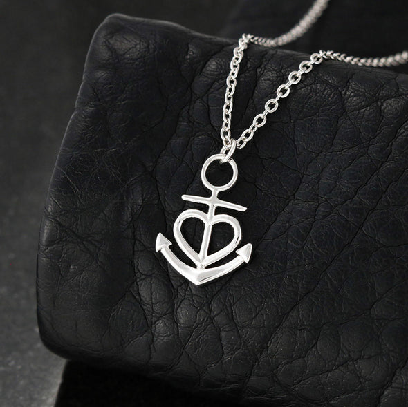 Mother Message Necklace To My Bonus Mom Life Gave Me The Gift Of You - Message Anchor Necklace - LOP Store