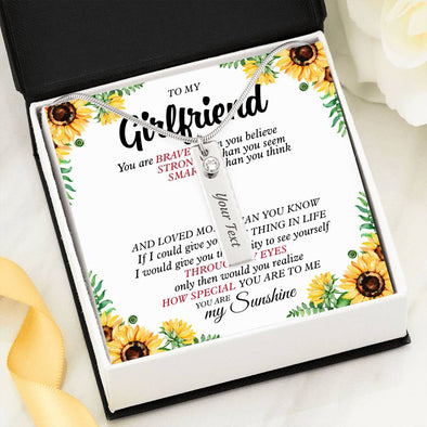 Girlfriend Message Necklace To My Girlfriend How Special You Are To Me You Are My Sunshine - Birthstone Name Necklace - LOP Store