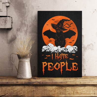 Halloween Canvas - Halloween Gift I Hate People Funny Halloween Canvas - LOP Store