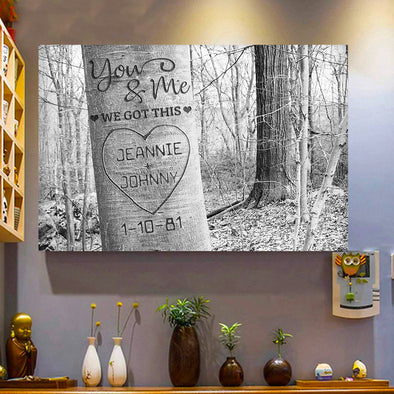 Love Canvas - You and Me We Got This Personalized Name and Date Canvas
