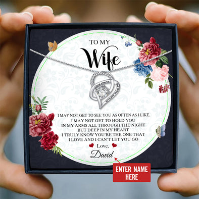 Wife Message Necklace To My Wife I May Not Get To See You Often As I Like But You're The One - Sterling Silver Necklace - LOP Store