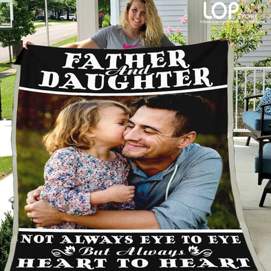 Custom Photo Fleece Blanket Father & Daughter - LOP Store