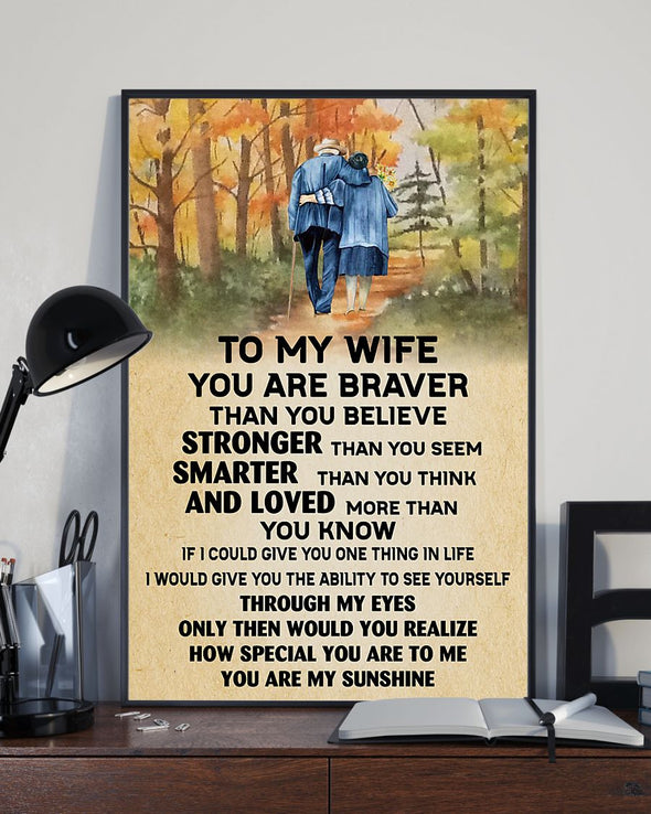 Wife Canvas - If I Could Give You One Thing In Life To My Wife I Would Give You The Ability To See Yourself Through My Eyes Canvas - LOP Store