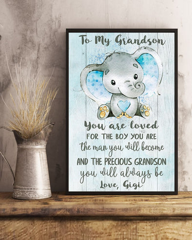 Grandson Canvas - To My Grandson You Are Loved For the Boy You Are The Man You Will Become and The Precious Grandson You Will Always Be Canvas - LOP Store