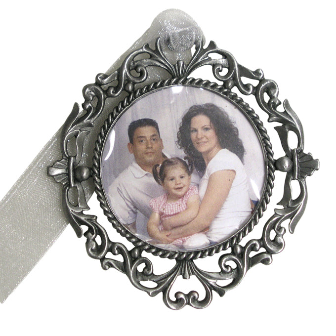 Round Photo Memorial Ornament