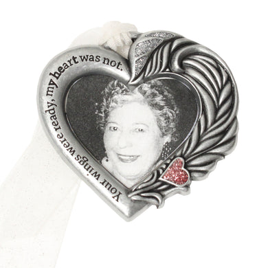 Remembrance Heart Photo Ornament