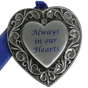 Always in our Hearts Memorial Heart Ornament