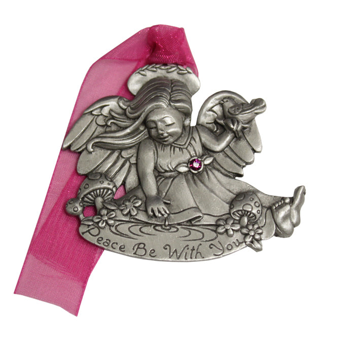 Peace be with You Remembrance Angel Ornament