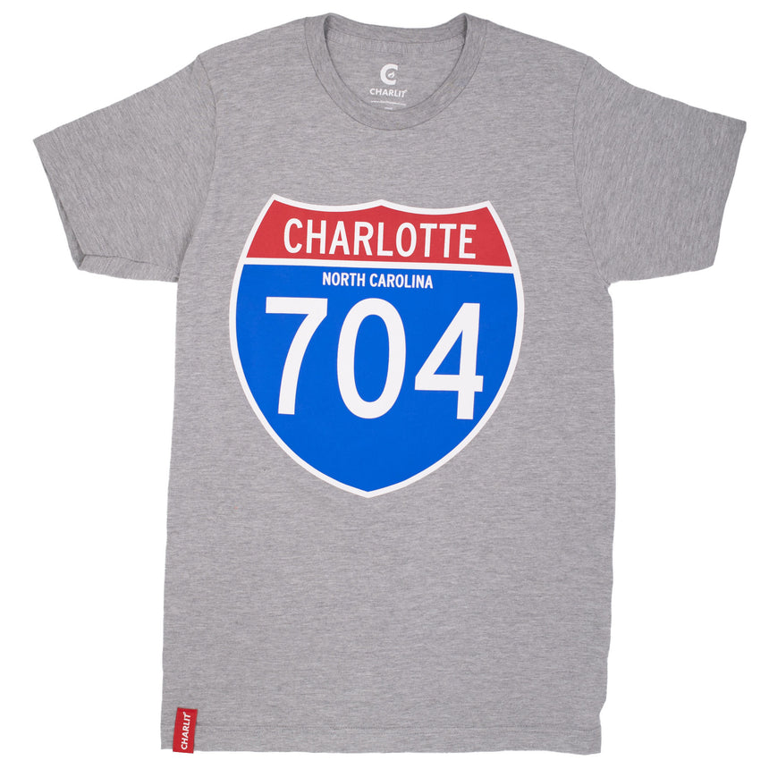 Interstate 704 Tee - Heather Grey