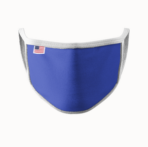 Royal Blue w/ White Trim Face Mask