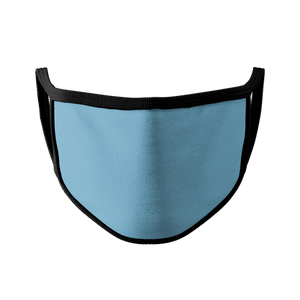 Baby Blue Mask w/ Black Trim