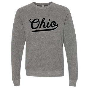 """Two-Tone Ohio Script"" Crewneck Sweatshirt"