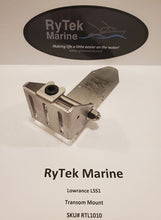 Load image into Gallery viewer, RyTek Marine LSS1/Lowrance transom mounted Transducer Bracket