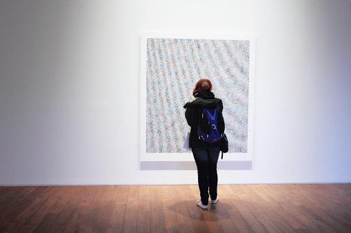 Art Displayed on a Blank Wall