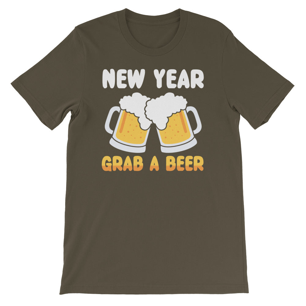New Year Grab A Beer Unisex Bella + Canvas T-shirt - Crazy About Tshirts