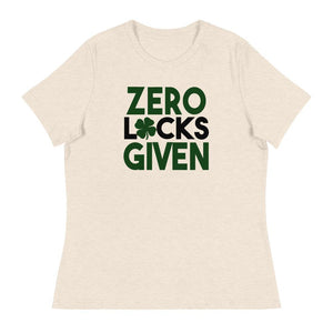 Zero Luck's Given Women's Relaxed T-Shirt - Crazy About Tshirts