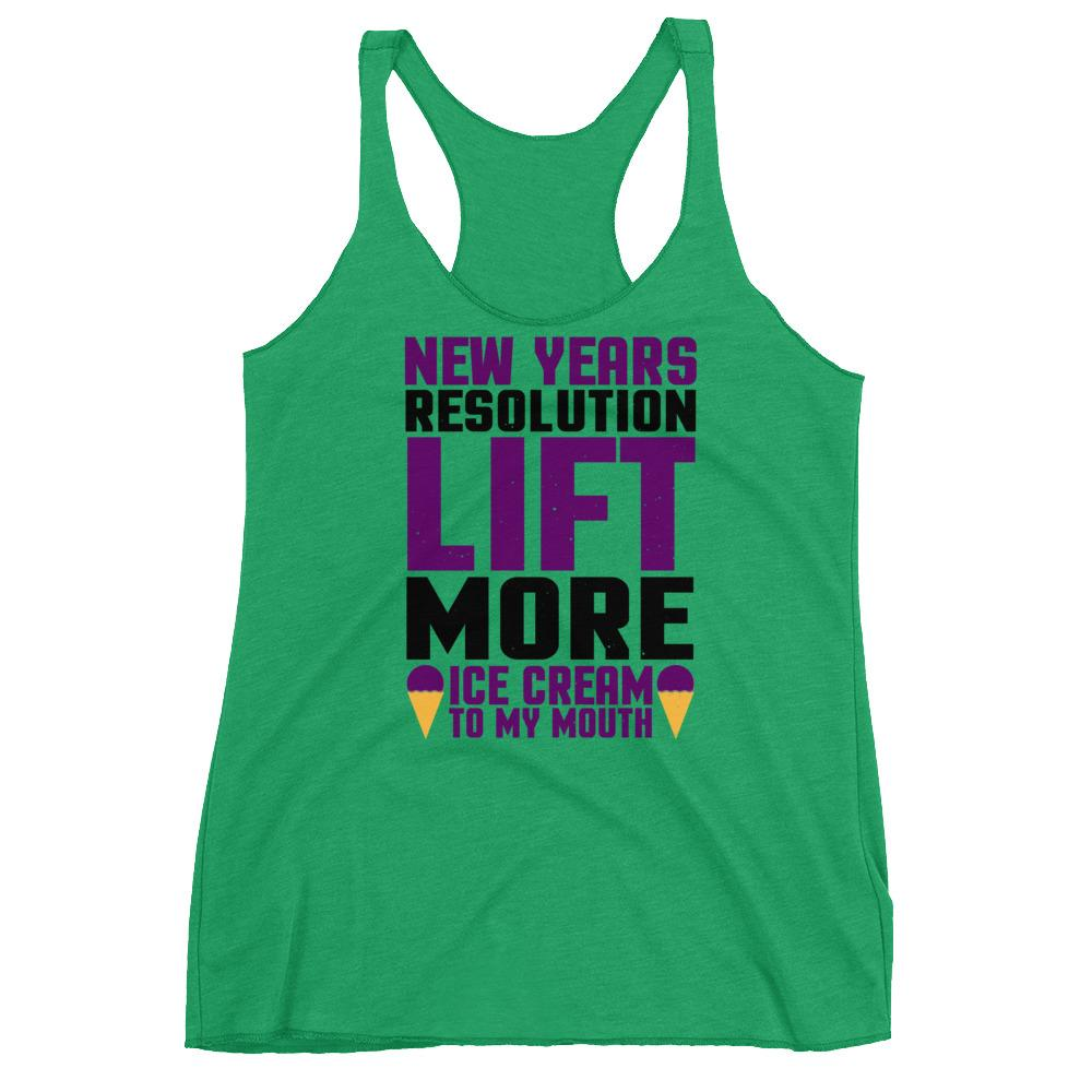 Lift More Ice Cream Women's Racerback Tank - Crazy About Tshirts